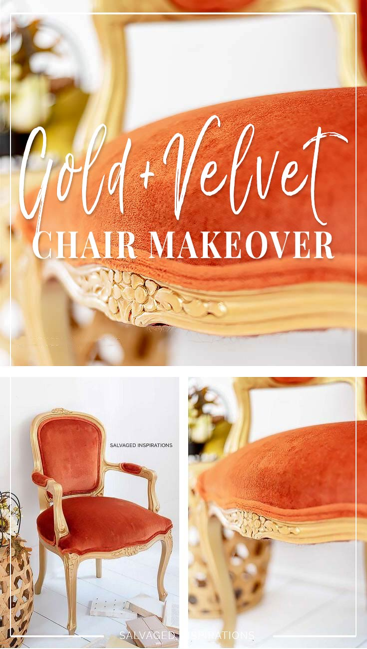 Gold + Velvet Chair Makeover Salvaged Inspirations
