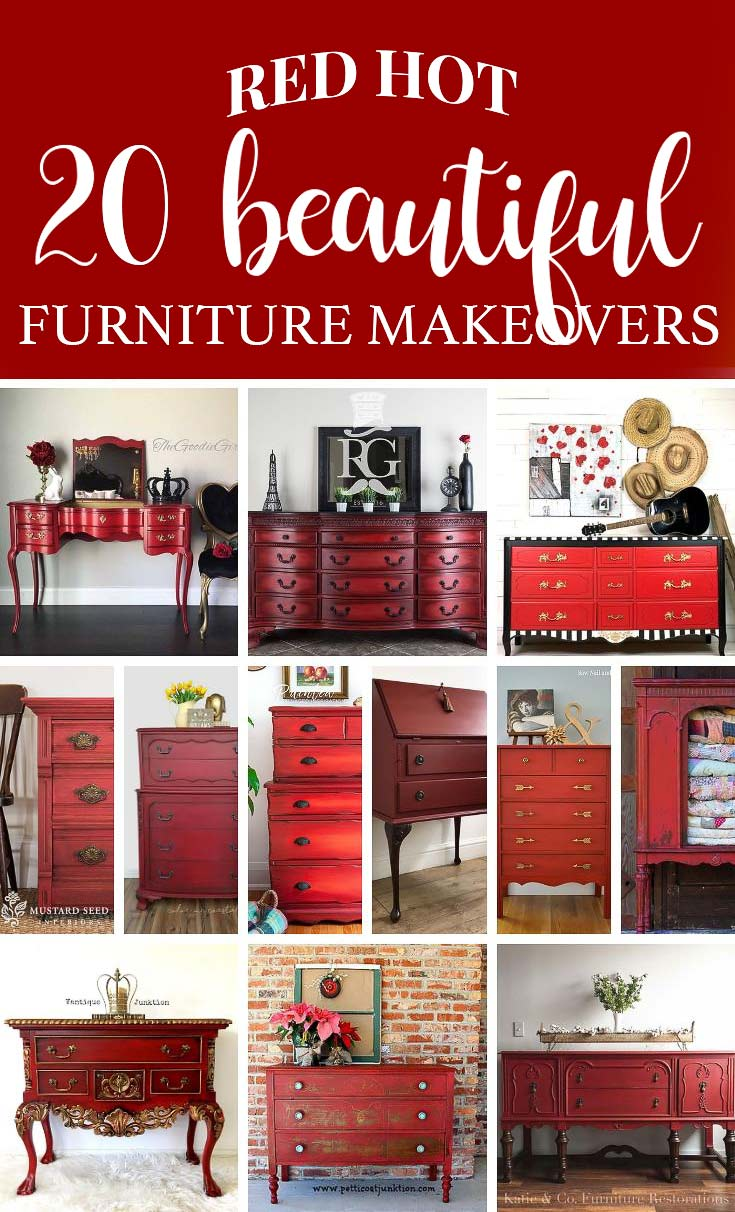 20 Red Hot Beautiful Furniture Makeovers