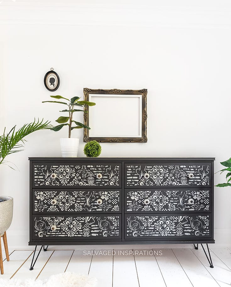 Black and White Painted Ikea Dresser