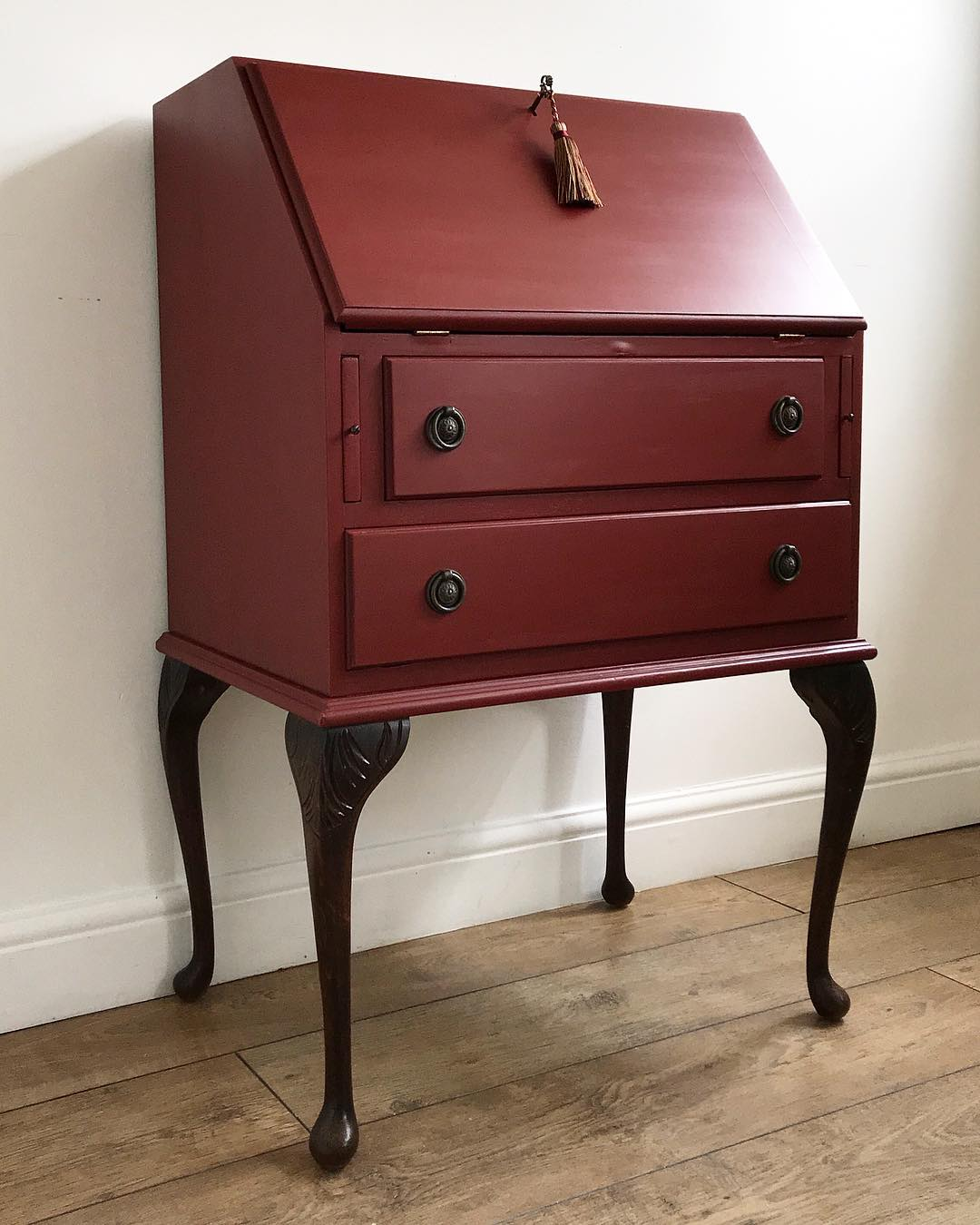 Forgotten Gems UK Red Painted Bureau