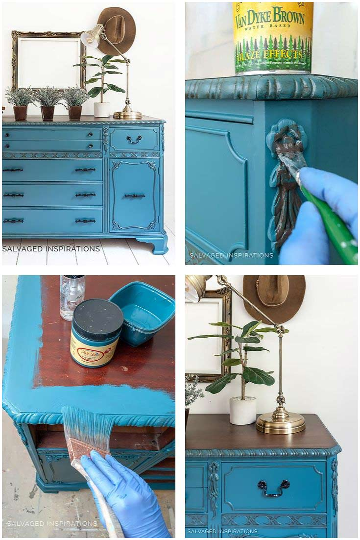How To Glaze Painted Furniture To Show Off Details
