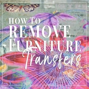 How To Remove Furniture Transfers