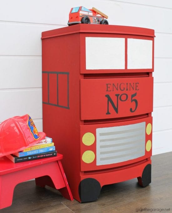 DIY Fire Engine - Girl In The Garage