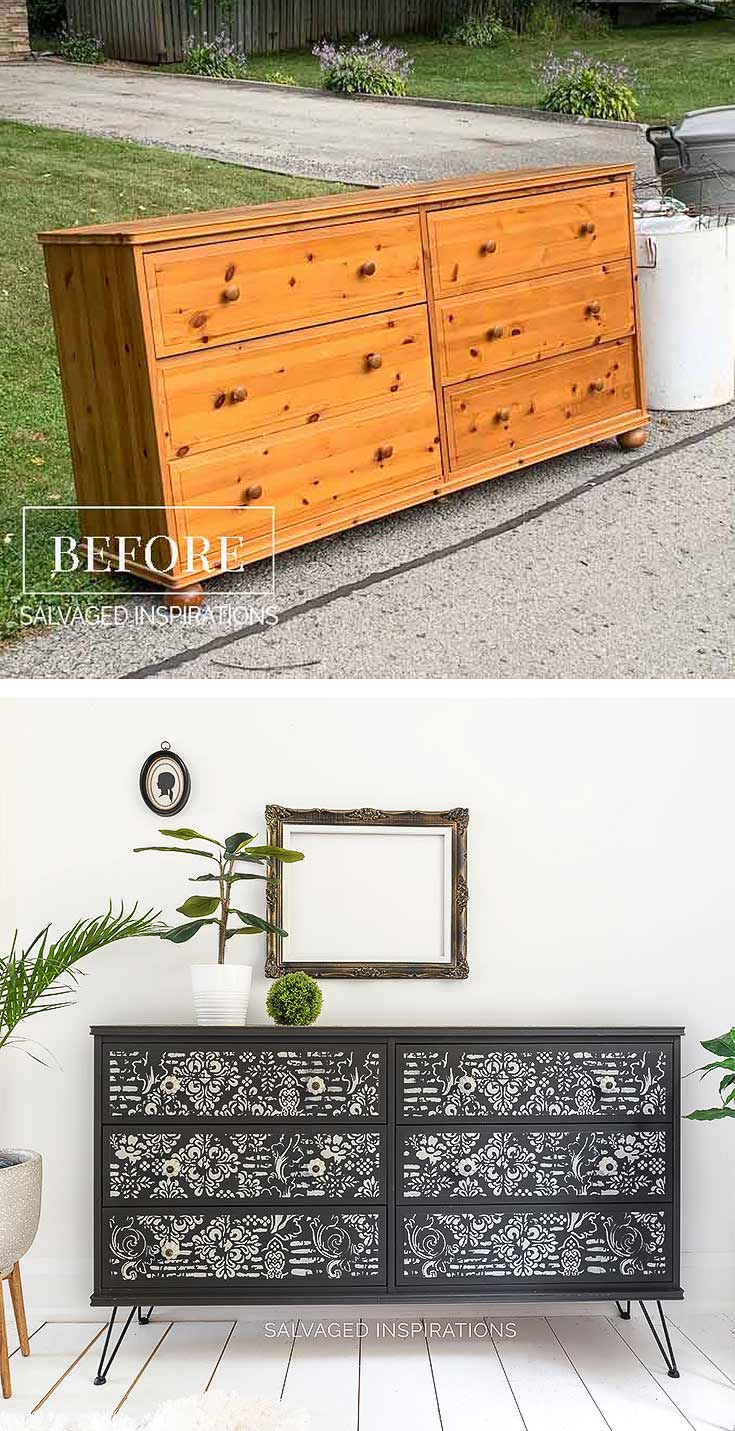 Ikea Curb Shopped Dresser Before and After