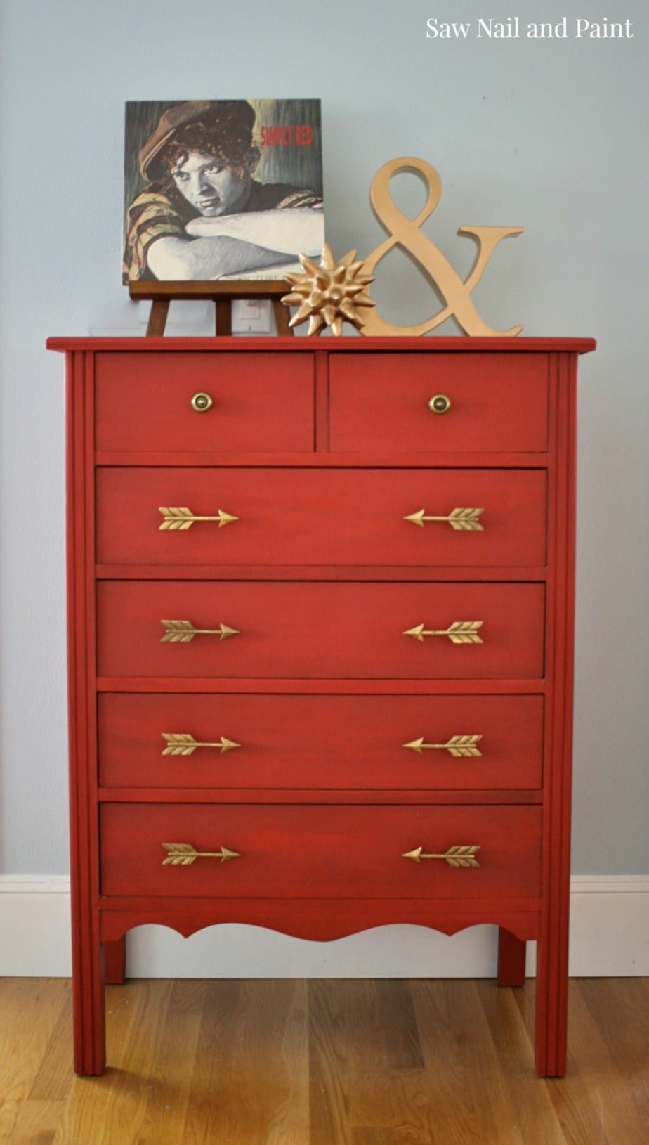 Saw Nail And Paint simply-red-dresser-1-1