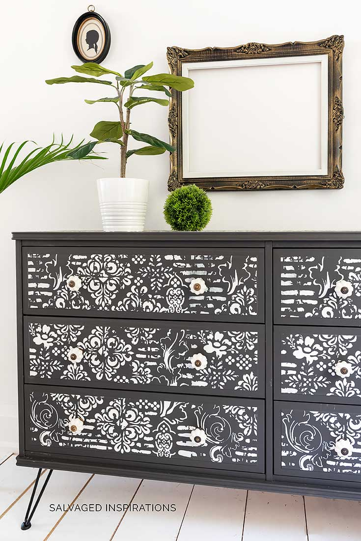 Stenciled IKEA Dresser Hack Makeover