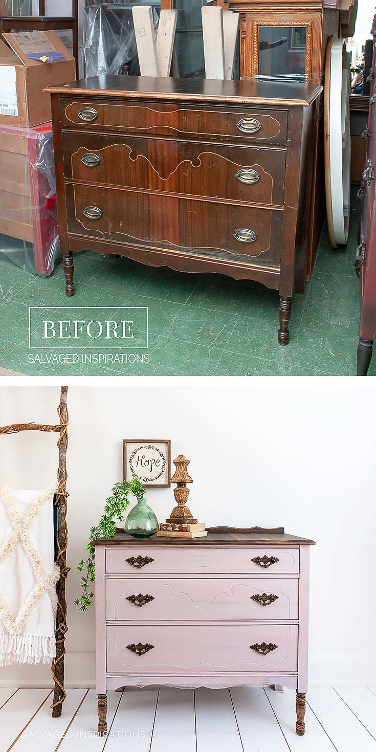 Vintage Dresser With Mia Mirror Salvaged Inspirations