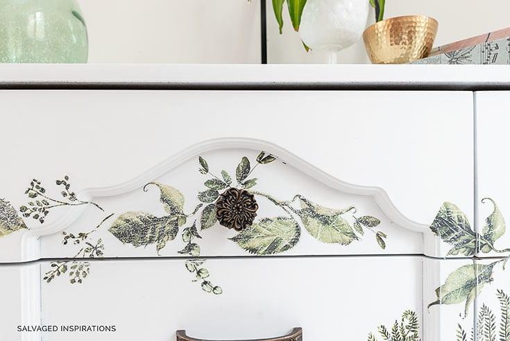 Close Up Of Fern Woods on Dresser