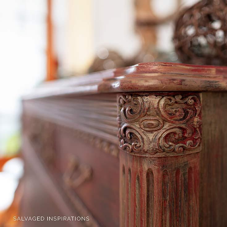 Close Up Of Gold Layered Vintage Dresser