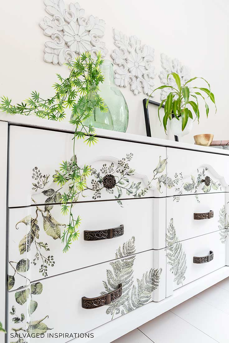 Fern Woods Laminate Dresser Makeover