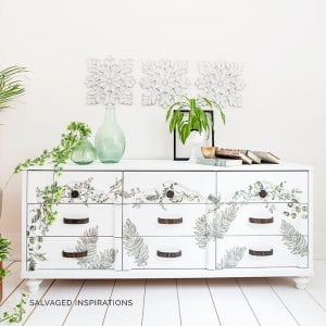 Fern Woods Painted Laminate Dresser