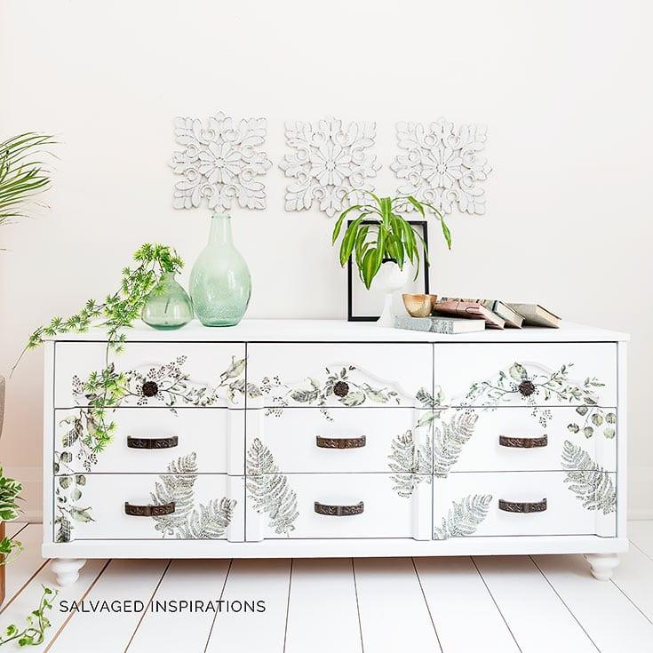 Fern Woods Painted Laminate Dresser