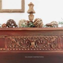 Gold Metallic Layered Vintage Dresser