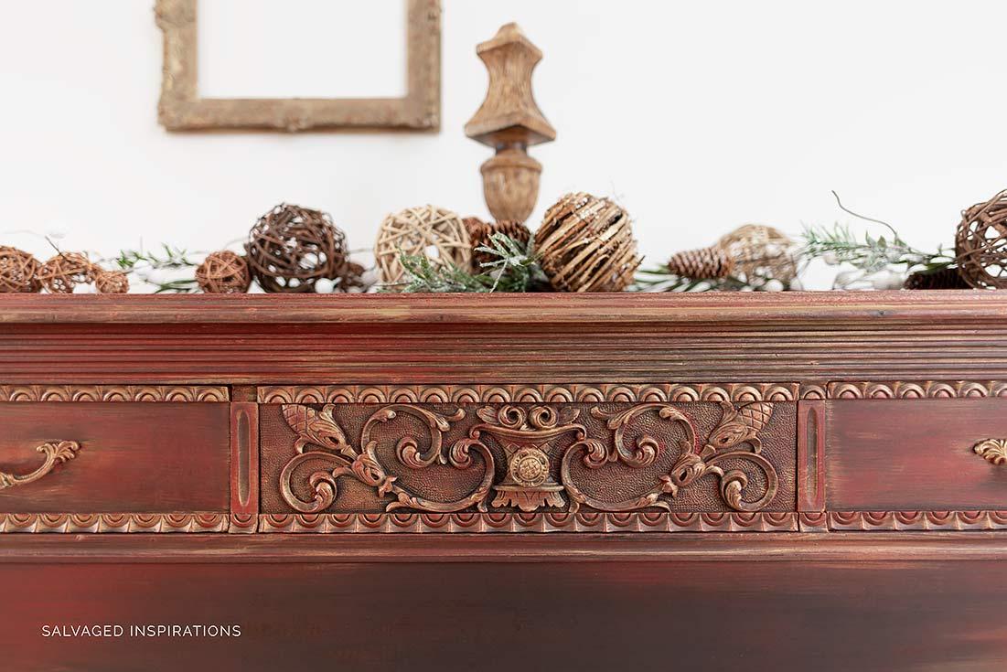 Gold Metallic Layered Vintage Dresser1