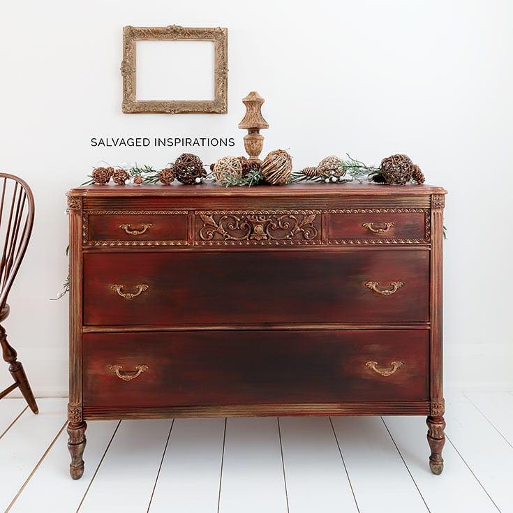 Holiday Vintage Dresser Makeover