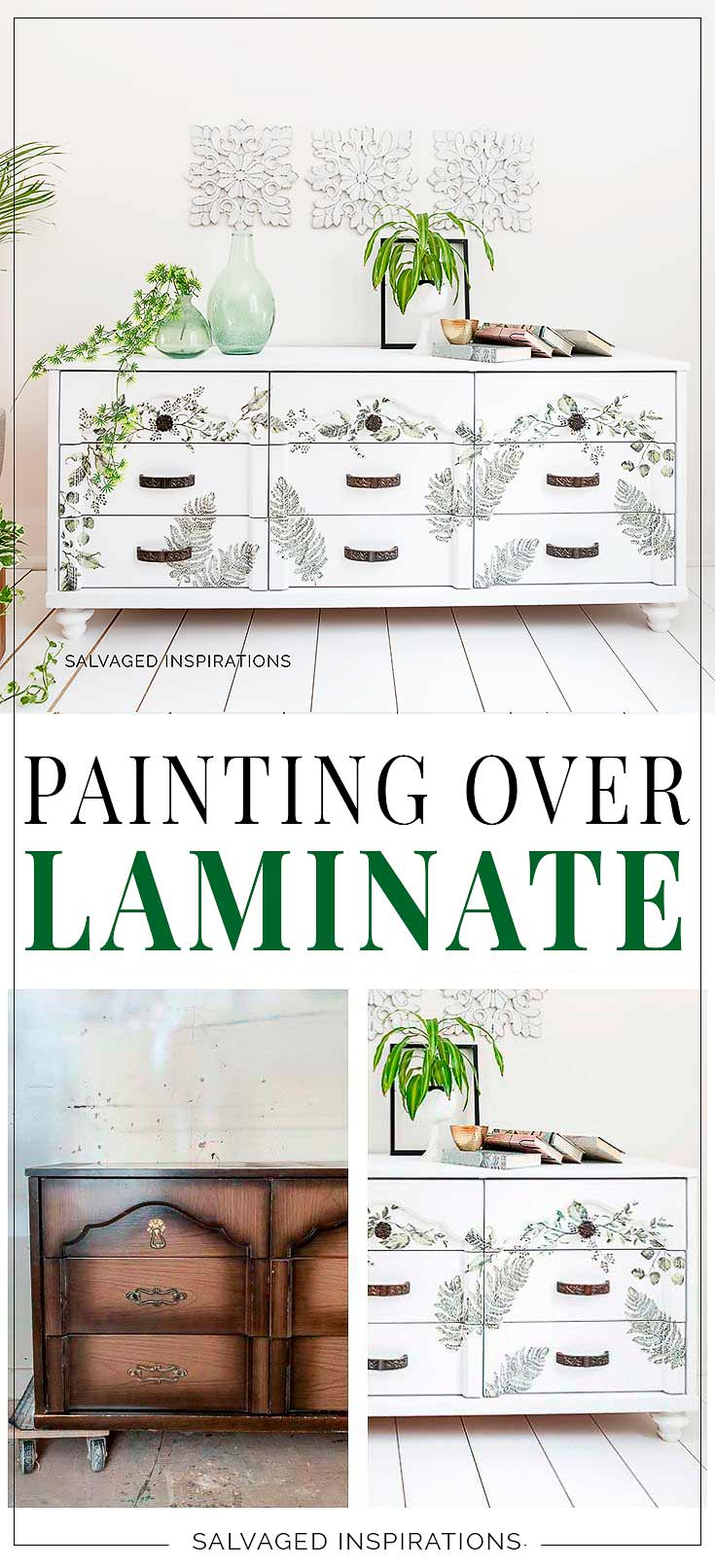 Painting Over Laminate | Salvaged Inspirations