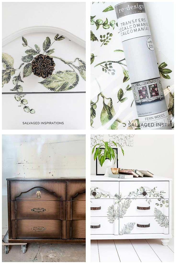 Salvaged Dresser Makeover - Fern Woods