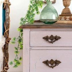 Tea Rose Painted Vintage Dresser IG