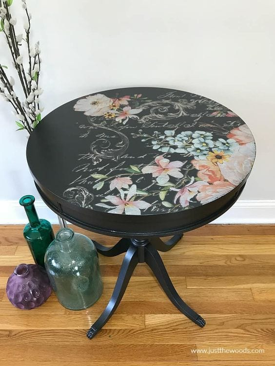 How To Refinish A Table In Florals | Just The Woods