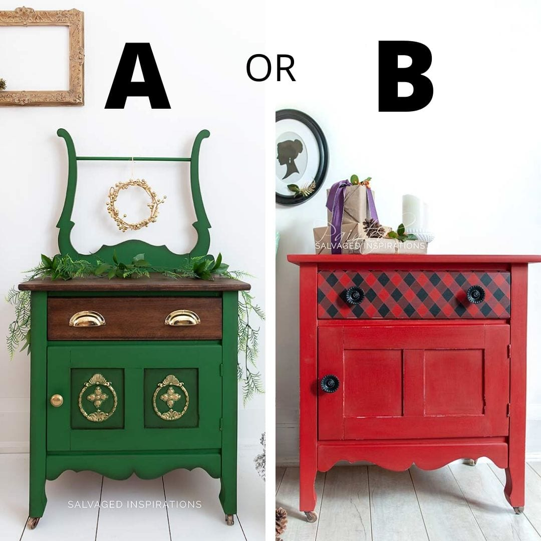 A or B Christmas Washstands