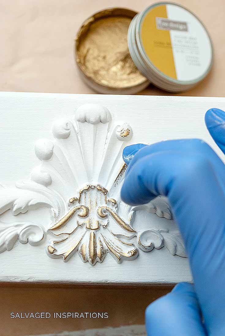 Adding Gilding Wax on DIY Applique