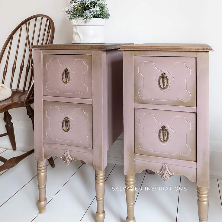 Desk Turned Painted Nightstands