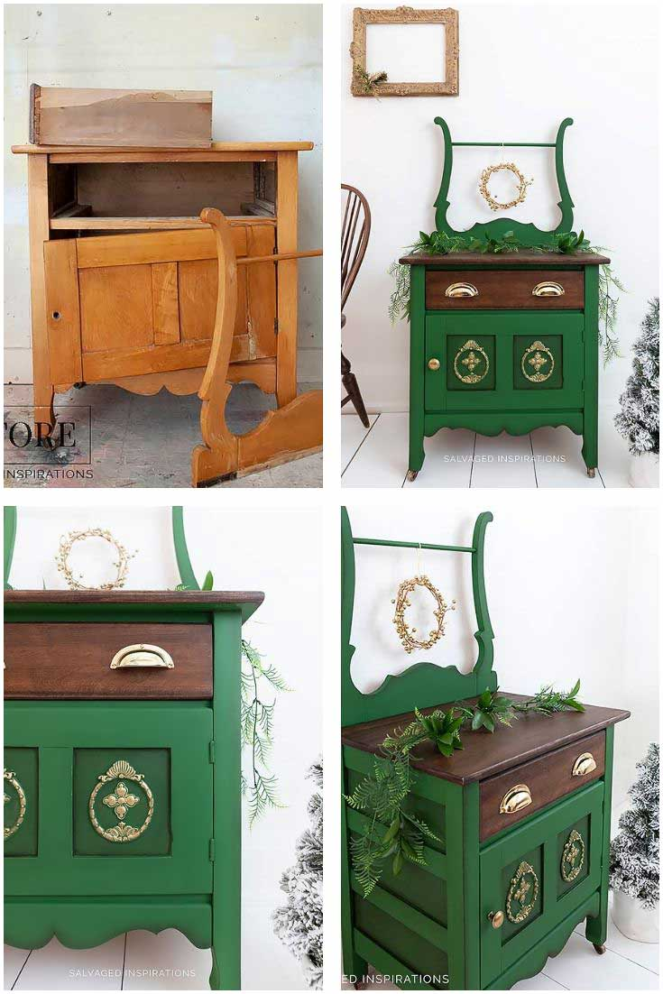 Dixie Belle Paint _ Evergreen Washstand