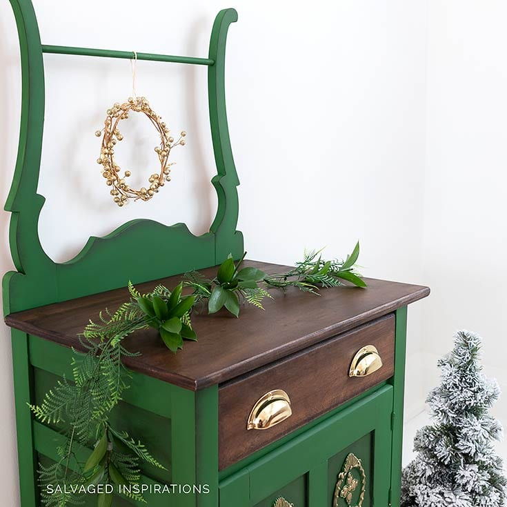 Painted and Stained Vintage Washstand