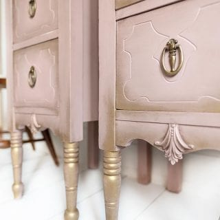 Side View of Painted Nightstands