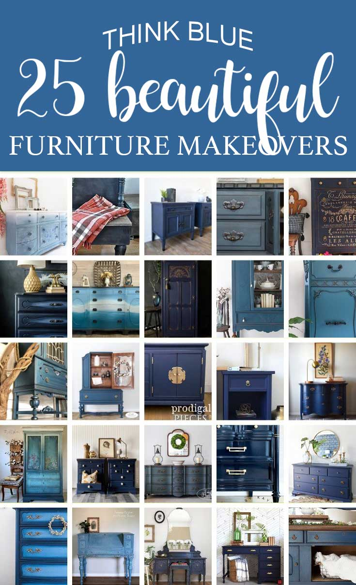 25 BEAUTIFUL BLUE Painted Furniture Makeover