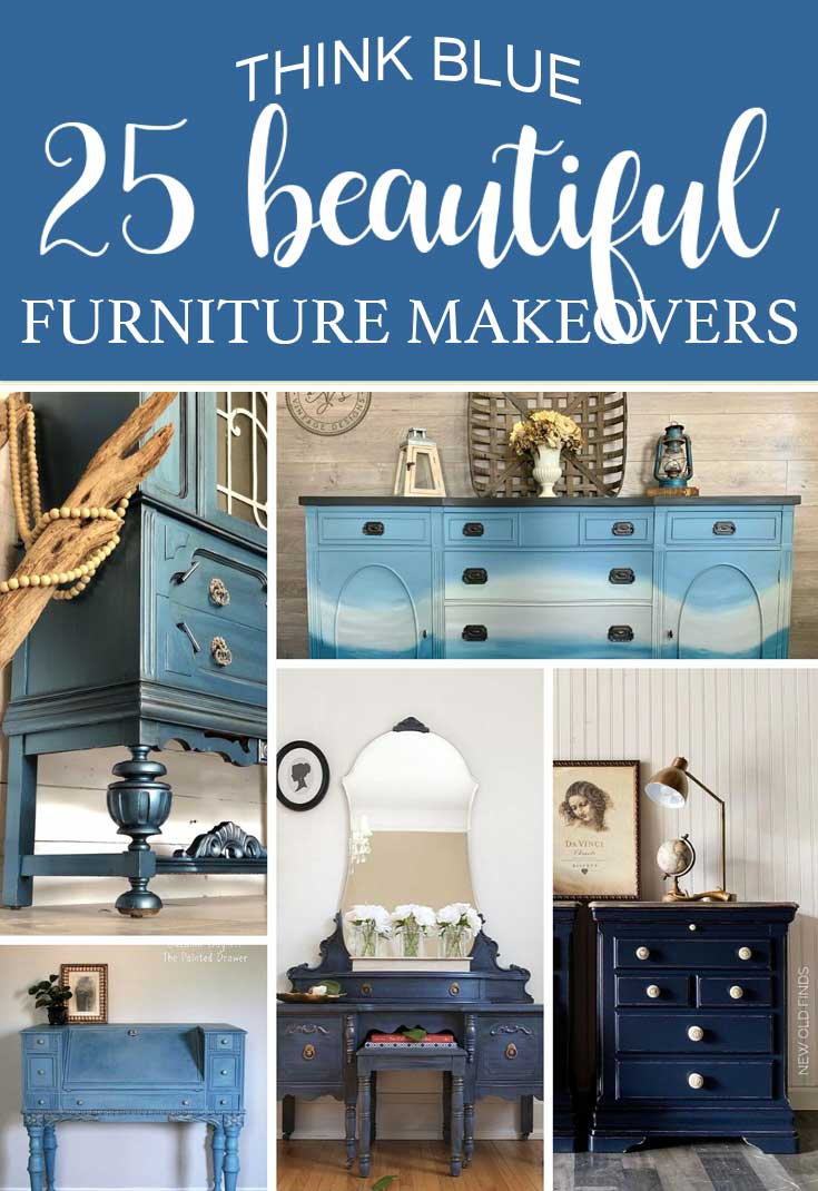 25 BEAUTIFUL Painted Furniture in BLUE