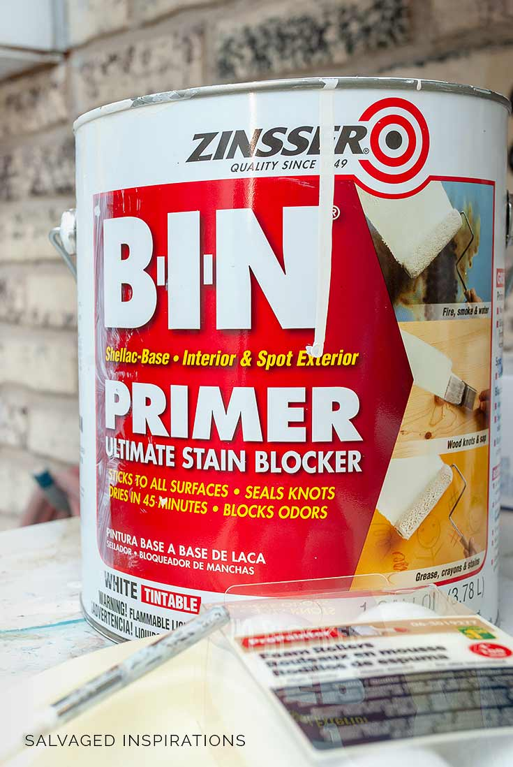 BIN Shellac Primer For Painting Furniture White