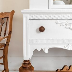 Cotton Painted China Cabinet