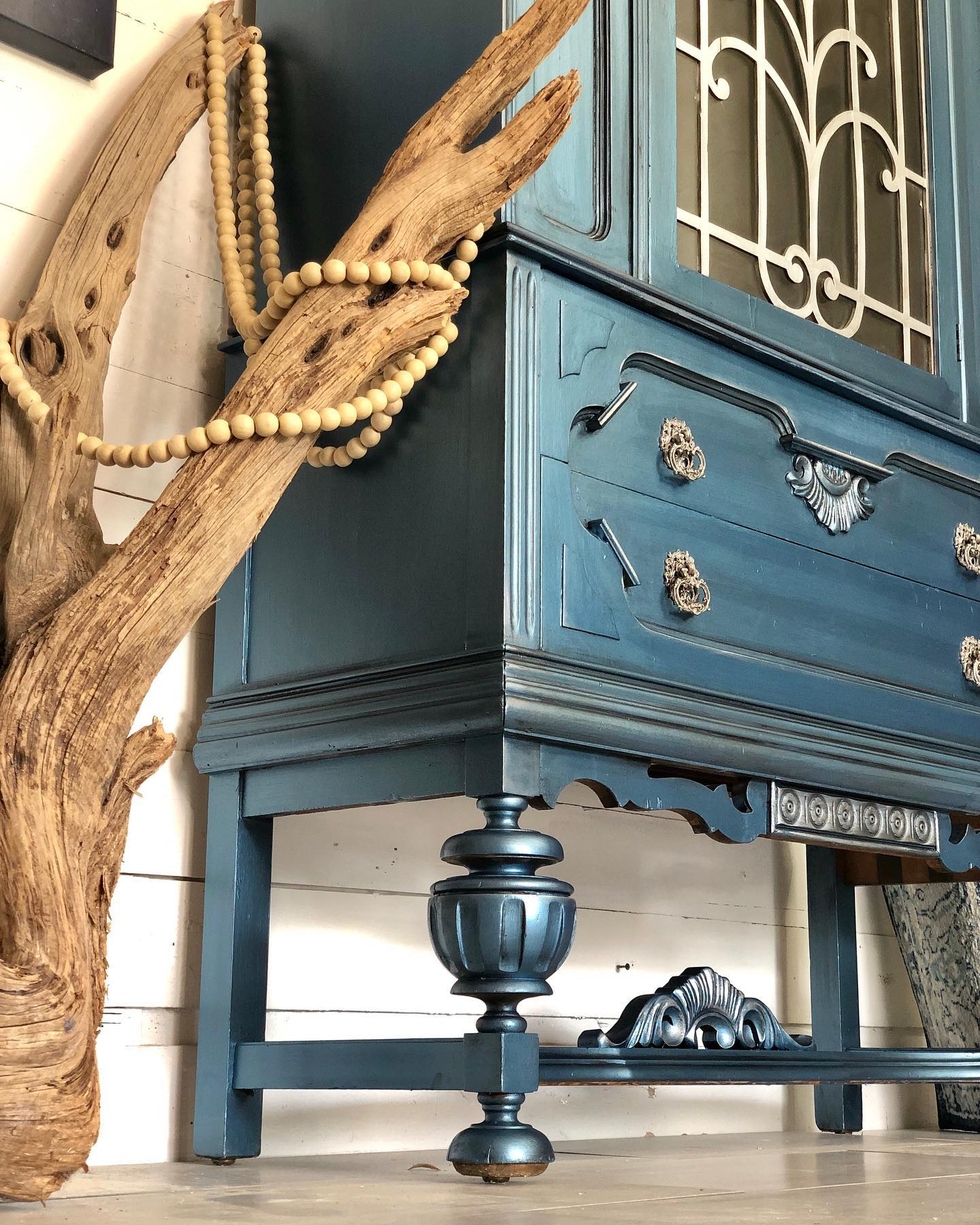 DB Metallic Blue Cabinet - Traceys Fancy