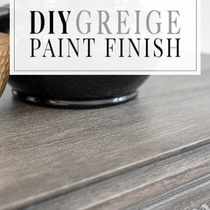 DIY Restoration Hardware Greige Paint Finish