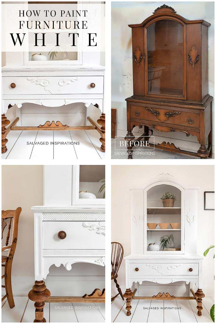 How to Paint Furniture White - Collage
