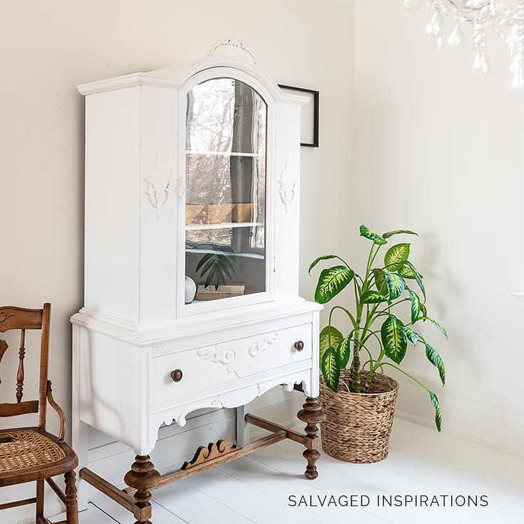 How to Paint a China Cabinet White