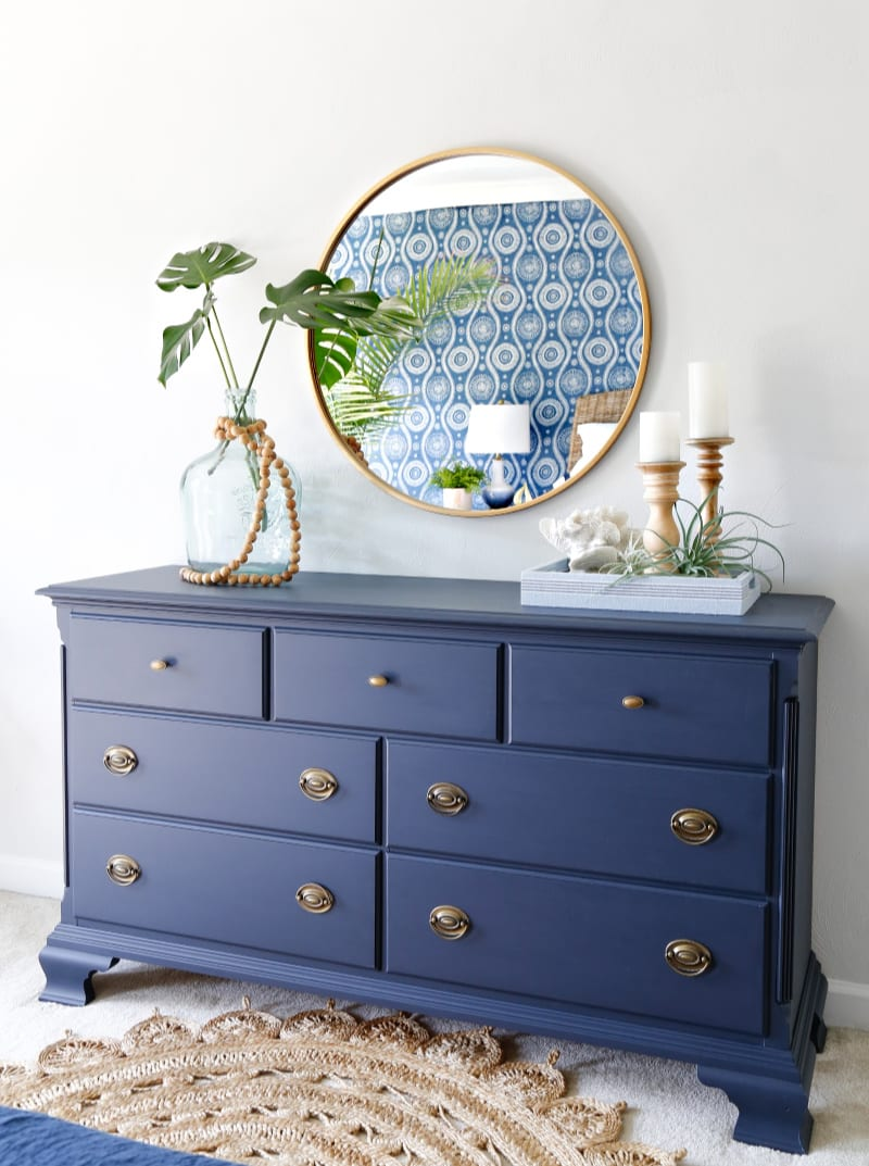 Navy-Blue-Dresser-Makeover by Sand and Sisal