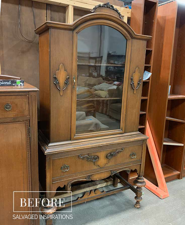 ReStore Vintage China Cabinet Before