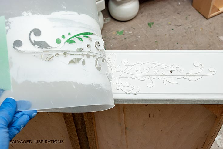 3D Stenciling on Furniture