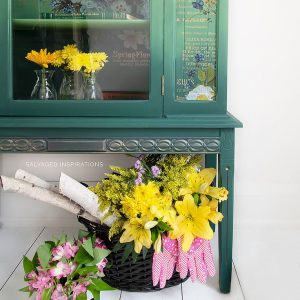 Painted China Cabinet in Dixie Belle Greens