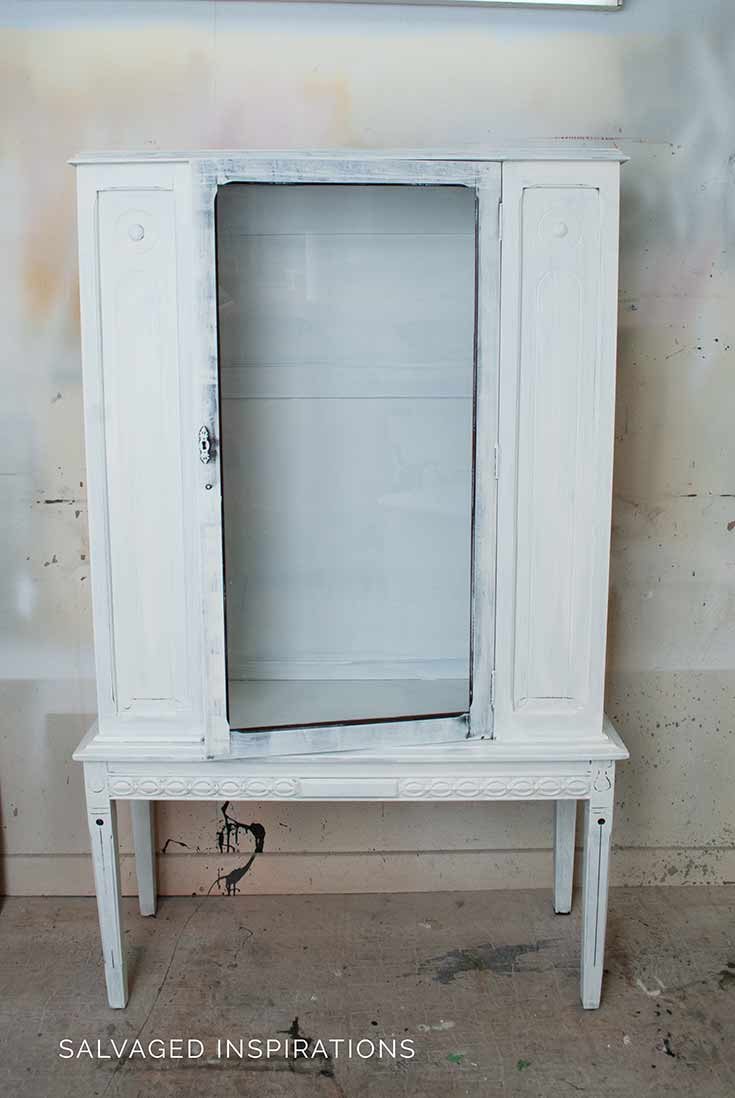 Primed China Cabinet Ready for Paint