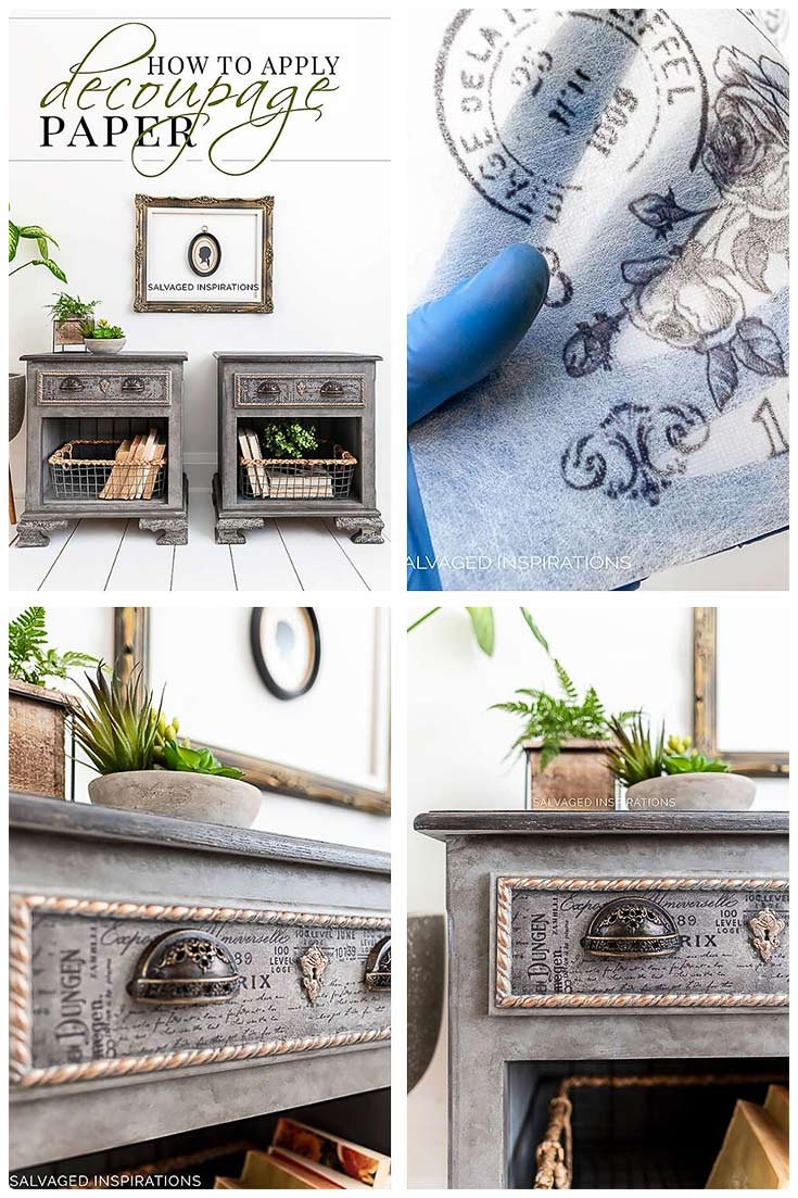 How To Apply Decoupage Decor Paper