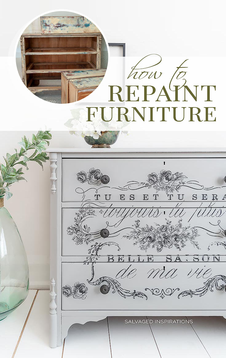 How To Repaint Furniture - Before and After