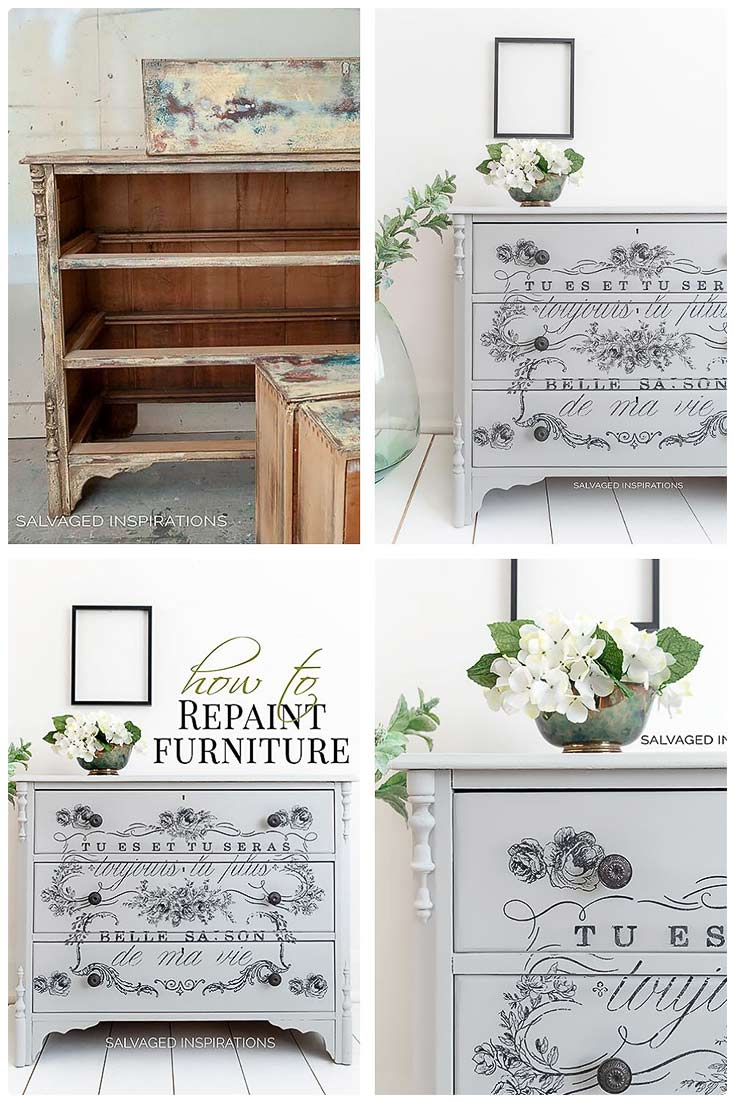 How To Repaint Furniture - Salvaged Inspirations