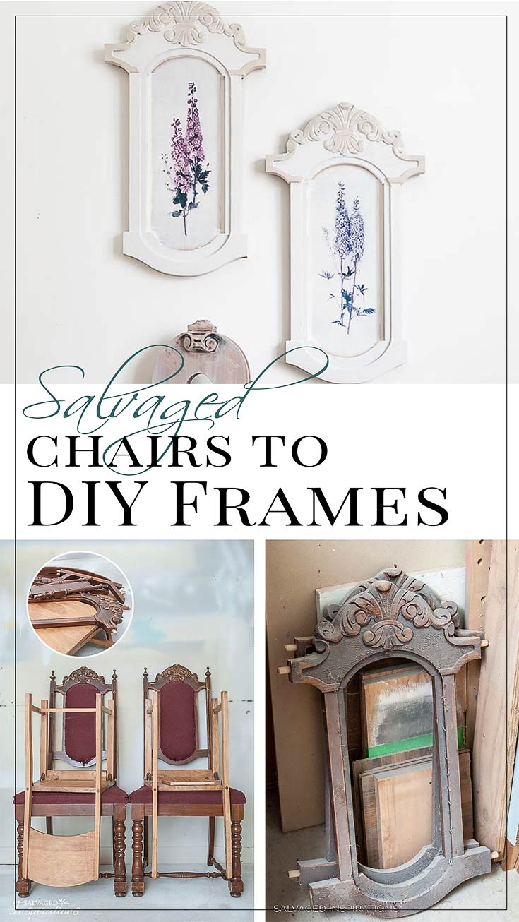 Salvaged Chairs into DIY Frames before and After