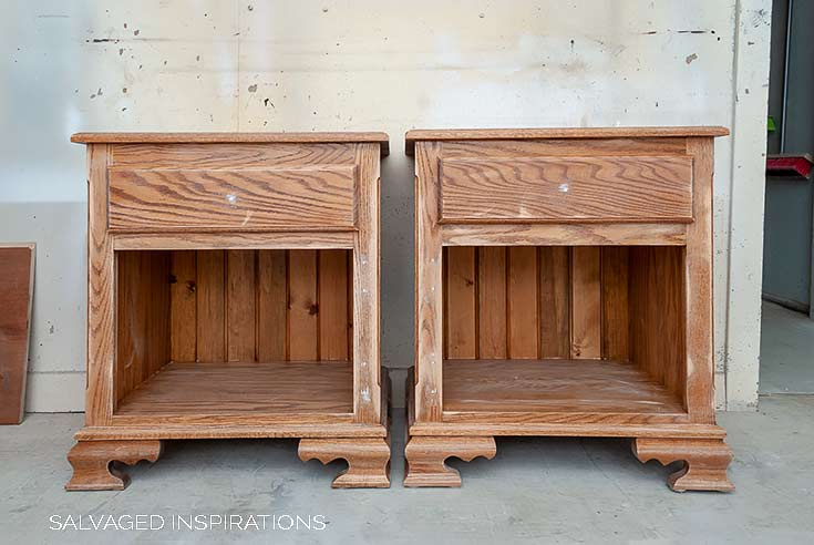 Thrift Nightstands with Doors Removed