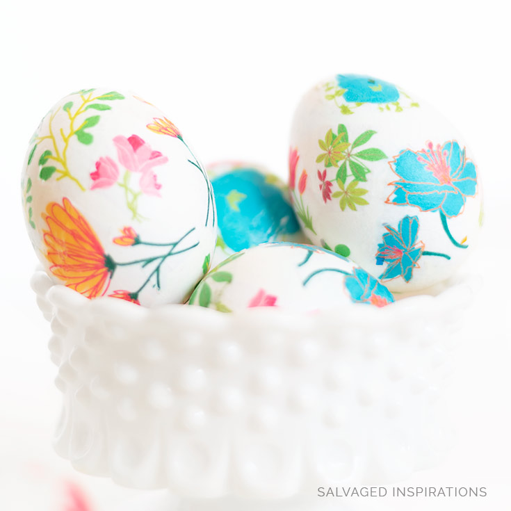 Close Floral Easter Eggs 2020