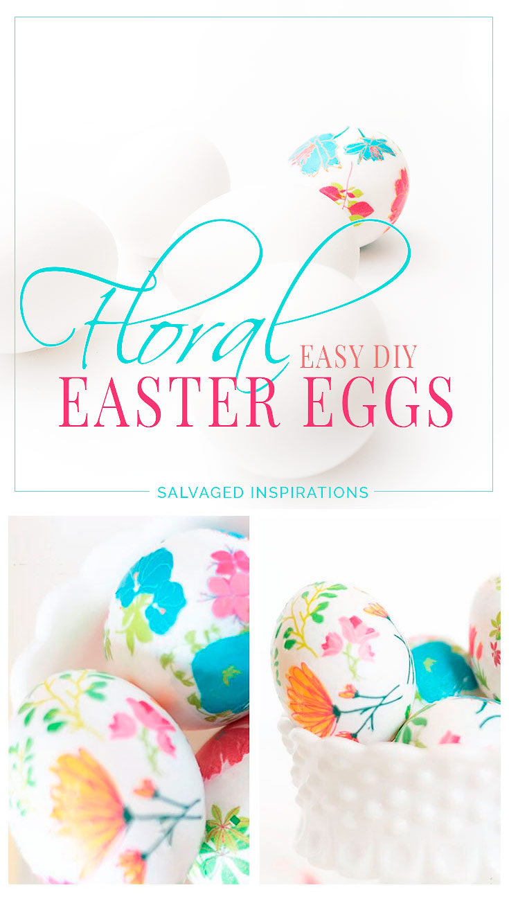 Floral Easy DIY Easter Eggs PIN