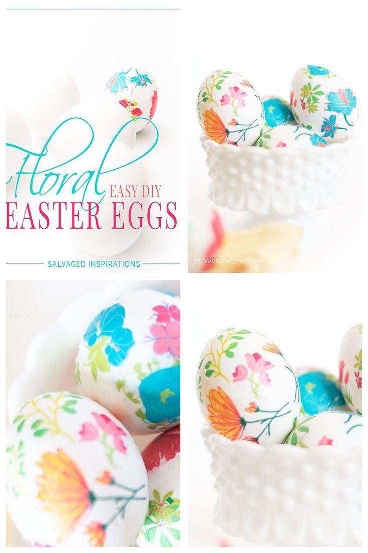 Printable Tissue Paper Easter Eggs